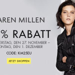Noch bis Montag: 25% Rabatt auf Kleidung in limitierter Auflage von Karen Millen!