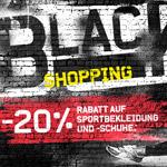 Black Weekend bei KARSTADT SPORTS – 20% Rabatt auf Sportbekleidung und Schuhe