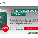 Kaspersky Internet Security 33% günstiger!