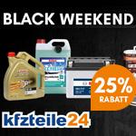 25% Rabatt auf Pkw-Zubehör, Pflegemittel und Werkzeuge mit den Black Weekend Angeboten von kfzteile24.de