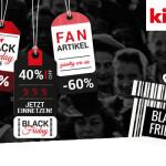 Jetzt einnetzen – Black Friday im kicker-Shop! Zahlreiche Fanartikel zu Schnäppchenpreisen!