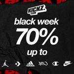 BLACKWEEK bei KICKZ – bis zu 70% auf Jordan, Champion, Nike, Adidas und mehr!