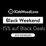 Black Weekend bei KidsWoodLove – 15% Rabatt auf ausgewähltes Holzprodukte für Kinder