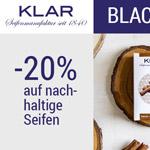 20% Rabatt auf die Bestseller der Seifenmanufaktur Klar zum Black Friday