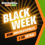 Black Week bei klarmobil! Kein Anschlusspreis & Gratis Datenvolumen