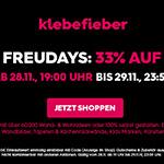 BLACK FREUDAYS bei Klebefieber.de – 33% auf alles!