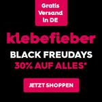 Klebefieber.de feiert die Black Freudays mit 30% Rabatt auf alle Wandbilder und Tapeten
