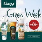 Green Week bei Kneipp. Spare 20% auf das gesamte Sortiment.