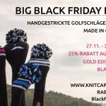 Spare vier Tage lang beim Big Black Friday Deal von knitcap.de!
