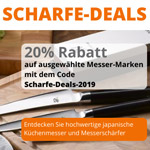 Scharfe Deals bei Kochen-Essen-Wohnen – 20% Rabatt auf ausgewählte Messer-Marken