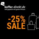 Black Weekend Sale auf koffer-direkt.de – Spare jetzt bis zu 25% auf deinen Einkauf