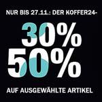Super Sale bei Koffer24! 30% Zusatz-Rabatt auf ausgewählte Artikel!