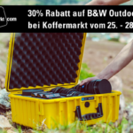30% Rabatt auf robuste B&W Outdoor Cases bei Koffermarkt