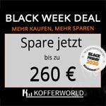 Spare bis zu 260 EURO mit dem Black Week Deal bei Kofferworld