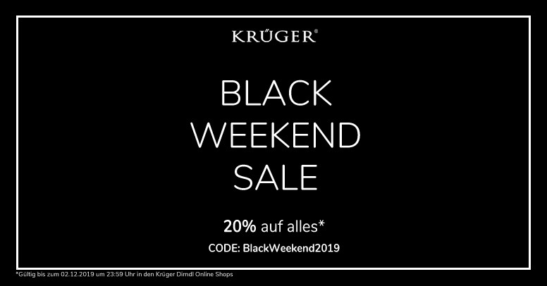 Krüger Dirndl Black Friday 2019