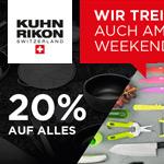 Bestelle jetzt hochwertiges Kochgeschirr von Kuhn Rikon und erhalte 20% Rabatt