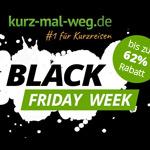 Eine Woche lang Kurzurlaub-Schnäppchen bei kurz-mal-weg.de mit bis zu 62% Rabatt