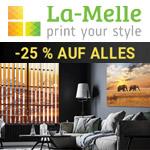 25% Rabatt auf das komplette Sortiment an Gardinen, Vorhängen, Rollos und Masken bei La Melle