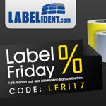 Label Friday – 12% Rabatt auf Etiketten bei Labelident.com
