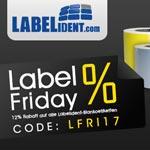 Label Friday – 12% Rabatt auf Etiketten bei Labelident.com