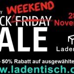 Black Friday Weekend bei Ladentisch.com – Spare bis zu -50% auf ausgewählte Produkte!