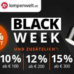 Spare bis zu 60% beim Black Week Sale von lampenwelt.at und erhalte bis zu 15% Extrarabatt!