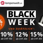 Spare bis zu 60% beim Black Week Sale von lampenwelt.ch und erhalte bis zu 15% Extrarabatt!