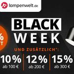 Spare bis zu 60% beim Black Week Sale von lampenwelt.de und erhalte bis zu 15% Extrarabatt!