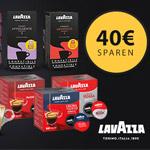 Spare jetzt bis zu 40 EURO bei deiner Bestellung im Lavazza Onlinestore!