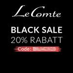 Black Sale bei LeComte mit 20% auf das komplette Sortiment