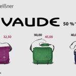 Black Weekend bei Leder Meißner: 50% auf Aktionsfarben der VAUDE PET-Taschen!