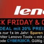 20% Black Friday Rabatt auf ausgewählte Produkte bei Lenovo