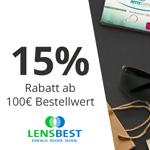 Jetzt 15% Rabatt auf zahlreiche Produkte bei Lensbest