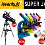 Spare jetzt bis zu 50% auf deine Bestellung von optischen Geräten bei Levenhuk!