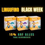 Lingufino Black Week: 15% Rabatt auf  Lernspielzeug mit Spracherkennung