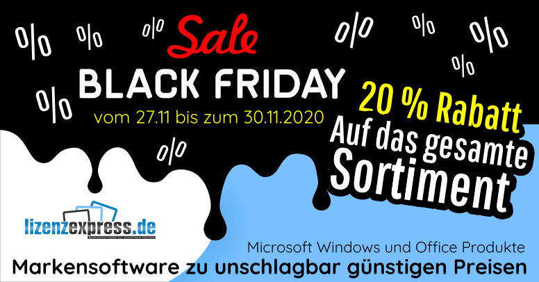 LizenzExpress Black Friday 2020