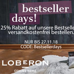 Bestseller Days bei Loberon – 25% Rabatt auf alle Bestseller