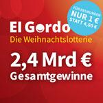 """Spanische Weihnachtslotterie """"El Gordo"""" schüttet 2,4 Mrd. € aus – Jetzt Los-Anteil für 1 € sichern – 77% Rabatt"""