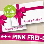 Pink Frei-Days bei ltur – Jetzt Reisegutschein kaufen und 50 € Gutschein geschenkt bekommen!