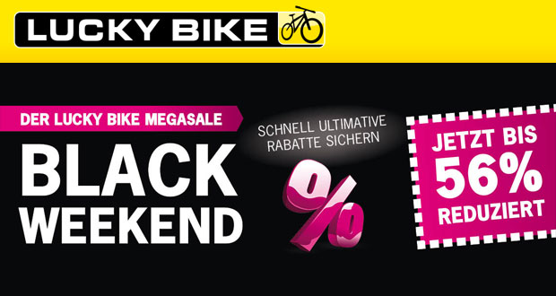 lucky bike mega sale mit bis zu 56 rabatt aus ausgew hlte produkte black. Black Bedroom Furniture Sets. Home Design Ideas