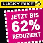 Black Weekend bei Lucky Bike, Sicher dir jetzt bis zu 62% Rabatt auf ausgewählte Räder und Zubehör!
