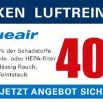 Nur heute bis zu 40% Rabatt auf Blueair Luftreiniger