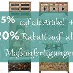 15% Rabatt auf alle Möbel im Online-Shop von Luxury Park!