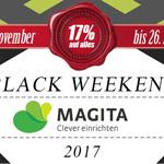 Black Weekend bei Magita – 17% Rabatt auf alles!