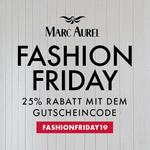 Fashion Friday bei Marc Aurel – Sicher dir jetzt 25% Rabatt auf alles!