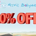Vom Taufkleid bis zum Baby Pflegeprodukt – Nur heute 10% Rabatt auf Alles bei Maxis-Babywelt!