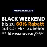 Black Weekend bei maxxcount – Bis zu 60% Rabatt auf Car-Hifi-Zubehör von Phoenix Gold & Stinger!