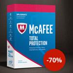 Cyber Sale bei McAfee, 70% Rabatt auf ein ganzes Jahr Total Protection!