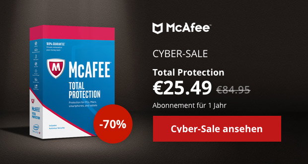 McAfee Cyber Sale 2017