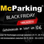 Gutscheincode im Wert von 10 EURO bei McParking